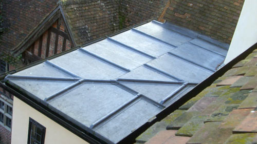 flat extension roof in lead