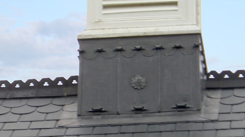 Lead detailing on roof