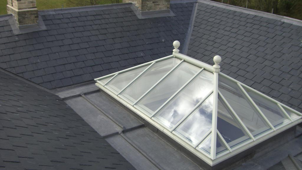 Slate roofing, leadwork and roof light